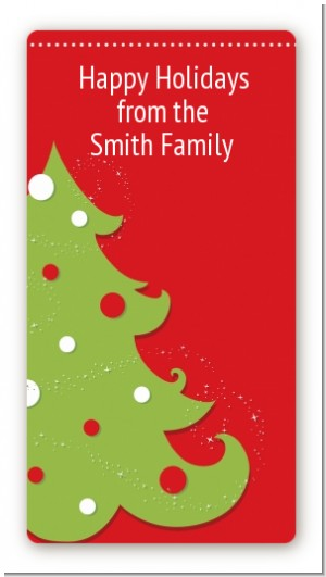 Christmas Tree - Custom Rectangle Christmas Sticker/Labels