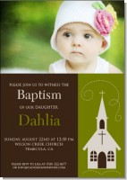 Church Baptism Photo - Baptism / Christening Invitations