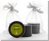 Church - Baptism / Christening Black Candle Tin Favors