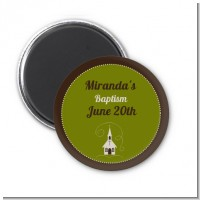 Church - Personalized Baptism / Christening Magnet Favors