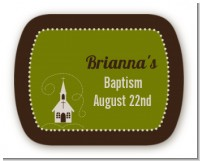 Church - Personalized Baptism / Christening Rounded Corner Stickers