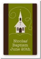Church - Custom Large Rectangle Baptism / Christening Sticker/Labels