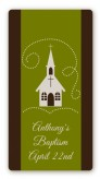 Church - Custom Rectangle Baptism / Christening Sticker/Labels