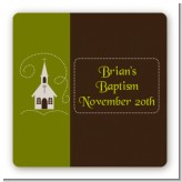 Church - Square Personalized Baptism / Christening Sticker Labels