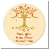 Autumn Tree - Round Personalized Bridal Shower Sticker Labels