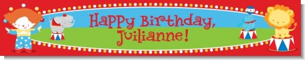 Circus - Personalized Birthday Party Banners