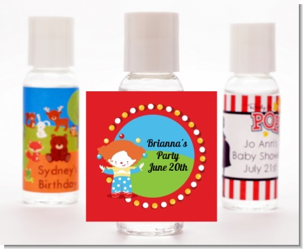 Circus Clown - Personalized Birthday Party Hand Sanitizers Favors