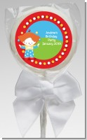 Circus Clown - Personalized Birthday Party Lollipop Favors