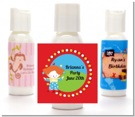 Circus Clown - Personalized Birthday Party Lotion Favors
