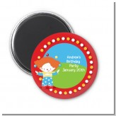 Circus Clown - Personalized Birthday Party Magnet Favors