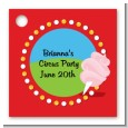 Circus Cotton Candy - Personalized Birthday Party Card Stock Favor Tags thumbnail