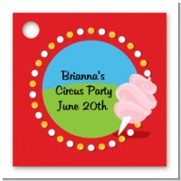 Circus Cotton Candy - Personalized Birthday Party Card Stock Favor Tags
