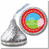 Circus Cotton Candy - Hershey Kiss Birthday Party Sticker Labels
