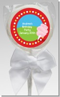 Circus Cotton Candy - Personalized Birthday Party Lollipop Favors