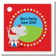 Circus Elephant - Personalized Birthday Party Card Stock Favor Tags thumbnail