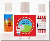Circus Elephant - Personalized Birthday Party Hand Sanitizers Favors