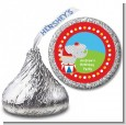 Circus Elephant - Hershey Kiss Birthday Party Sticker Labels thumbnail