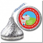 Circus Elephant - Hershey Kiss Birthday Party Sticker Labels