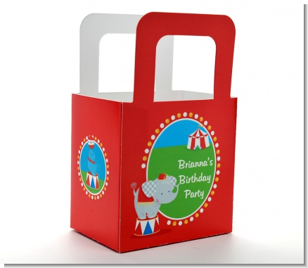 Circus - Personalized Birthday Party Favor Boxes