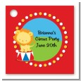 Circus Lion - Personalized Birthday Party Card Stock Favor Tags thumbnail