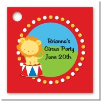 Circus Lion - Personalized Birthday Party Card Stock Favor Tags