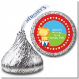 Circus Lion - Hershey Kiss Birthday Party Sticker Labels