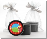 Circus Popcorn - Birthday Party Black Candle Tin Favors