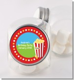 Circus Popcorn - Personalized Birthday Party Candy Jar
