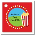 Circus Popcorn - Personalized Birthday Party Card Stock Favor Tags thumbnail