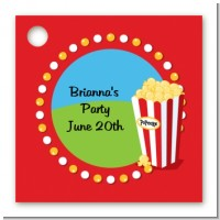 Circus Popcorn - Personalized Birthday Party Card Stock Favor Tags