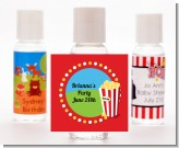 Circus Popcorn - Personalized Birthday Party Hand Sanitizers Favors