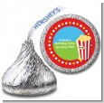 Circus Popcorn - Hershey Kiss Birthday Party Sticker Labels thumbnail