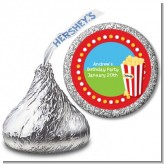 Circus Popcorn - Hershey Kiss Birthday Party Sticker Labels