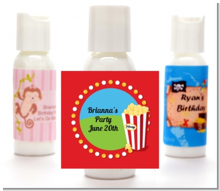 Circus Popcorn - Personalized Birthday Party Lotion Favors