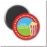 Circus Popcorn - Personalized Birthday Party Magnet Favors