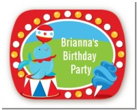 Circus - Personalized Birthday Party Rounded Corner Stickers
