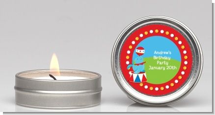Circus Seal - Birthday Party Candle Favors