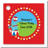 Circus Seal - Personalized Birthday Party Card Stock Favor Tags
