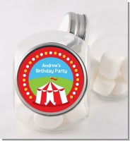 Circus Tent - Personalized Birthday Party Candy Jar