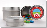 Circus Tent - Custom Birthday Party Favor Tins