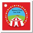 Circus Tent - Personalized Birthday Party Card Stock Favor Tags thumbnail