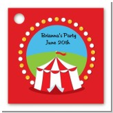 Circus Tent - Personalized Birthday Party Card Stock Favor Tags