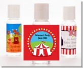 Circus Tent - Personalized Birthday Party Hand Sanitizers Favors