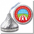 Circus Tent - Hershey Kiss Birthday Party Sticker Labels thumbnail