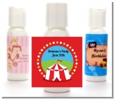 Circus Tent - Personalized Birthday Party Lotion Favors