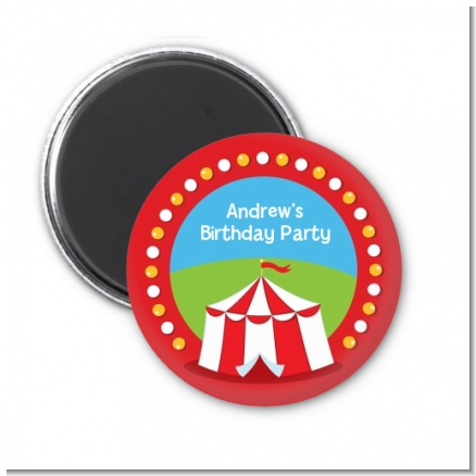 Circus Tent - Personalized Birthday Party Magnet Favors