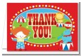 Circus - Birthday Party Thank You Cards thumbnail