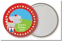 Circus Elephant - Personalized Birthday Party Pocket Mirror Favors