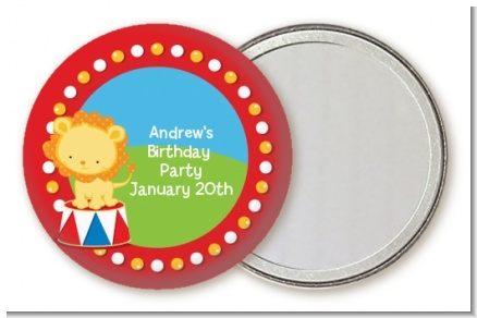 Circus Lion - Personalized Birthday Party Pocket Mirror Favors
