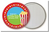 Circus Popcorn - Personalized Birthday Party Pocket Mirror Favors